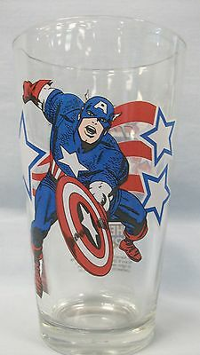 Captain America ~ 2006 Heroes Con Clear Glass ~ Toon Tumbler by PopFun - Captain America Glasses