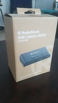 1 Output Hdmi Selector (RADIO SHACK HDMI SELECTOR SWITCH 2 inputs, 1 output, new in box, 15-468 )