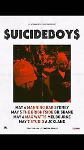 Selling 1 $uicideboy$ ticket Brisbane, 5th may, at the Brightside Brisbane City Brisbane North West Preview