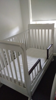 White Cot Toddler Bed with Draw(with assembly & delivery option)