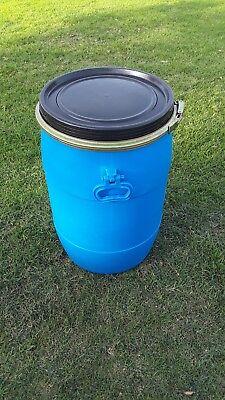 15 Gallon Poly Open Top Lever Lock Ring Barrels Drum Pepper Food Grade Water #2