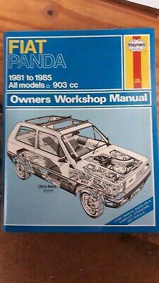 Fiat Panda 1981 To 1985 Haynes Manual Used Condition