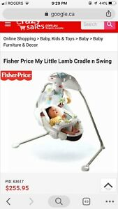 Fisher Price My Little Lamb Cradle Swing $70.