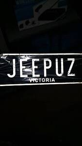 Number Plates Stick em on anything Even a Jeep Mornington Mornington Peninsula Preview