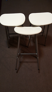 3 white bar stools (73x39x32) for sale! Maroubra Eastern Suburbs Preview
