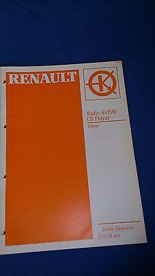 Reparaturhandbuch Autoradio PIONEER 4x15 W CD PLAYER Renault | 7711174414 ()