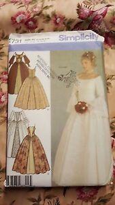 Simplicity 4731 Wedding Costume Pattern Sz 12 to 20 SCA Renaissance UNCUT Plus