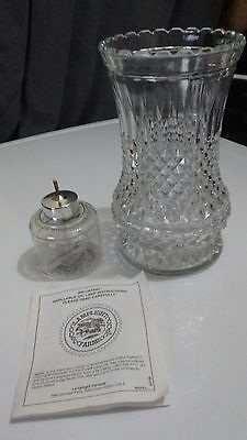 Diamond Oil Candle -  1996 Vintage Crystal Diamond Cut Oil Candle Lamp with Instructions