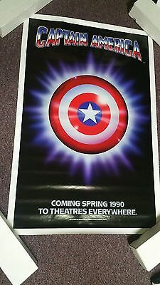 Captain America 1990 Original Movie Poster Rolled 27X41 - 1990 Captain America Movie