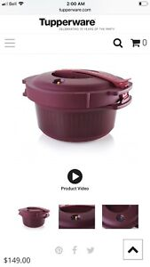 Tupperware microwave pressure cooker and rice cooker