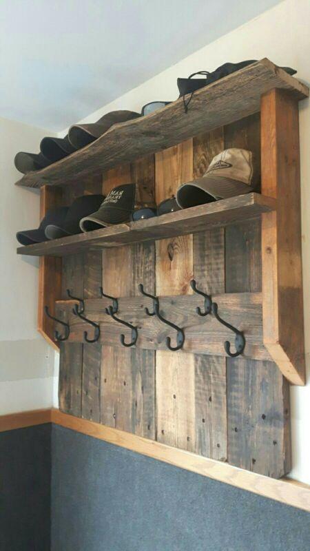 Wall mounted coat rack shelf