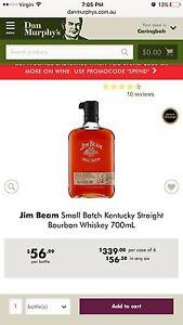 Jim Beam small batch Kentucky straight bourbon wiskey 700ml new bottle Lilyfield Leichhardt Area Preview