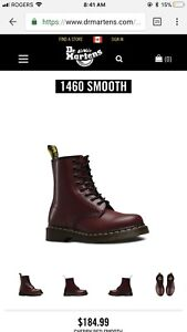 SIZE 7W Cherry Red Doc Martens -  8/10 condition