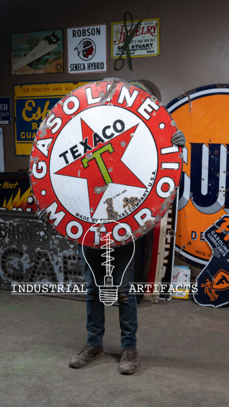 ORIGINAL Texaco SSP Porcelain Sign