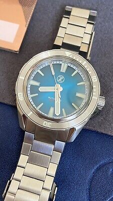 Zelos Swordfish Rare Teal Dial 83/100 300m Automatic Diver Watch Submariner 42mm