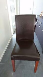 Set of 6 leather dining chairs Geelong Geelong City Preview