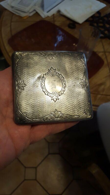 WEBSTER STERLING SILVER CIGARETTE CASE gold wash 92 grams cigar free shipping
