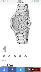 Bulova Women's Diamond Ceramic Stainless Steel Watch