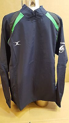 Clearance Line New - Gilbert Rugby Jet Training Jacket- Navy Green - Large