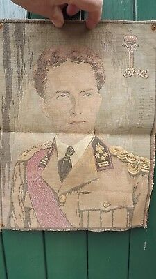 1940s King Leopold of Belgium Portrait Tapestry Panel