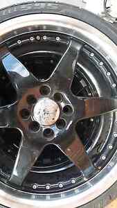 18inch Apec race 6 wheels with tyres 8 hole fitment 75% tread Meadow Heights Hume Area Preview
