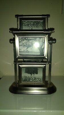 Double Photo Frame (FERRIS WHEEL PHOTO FRAME - PEWTER FINISH  -DOUBLE SIDED - DISPLAYS)