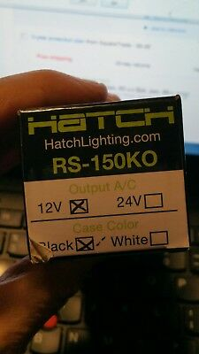 HATCH Electronic A/C Low Voltage Transformer 120VAC 150W RS-150KO Black 12v ()
