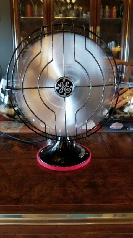 Vintage General Electric 8 inch Blade Art Deco Quite fan Restored