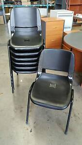 BLACK PLASTIC STACKING CHAIRS office workplace study chair Murarrie Brisbane South East Preview