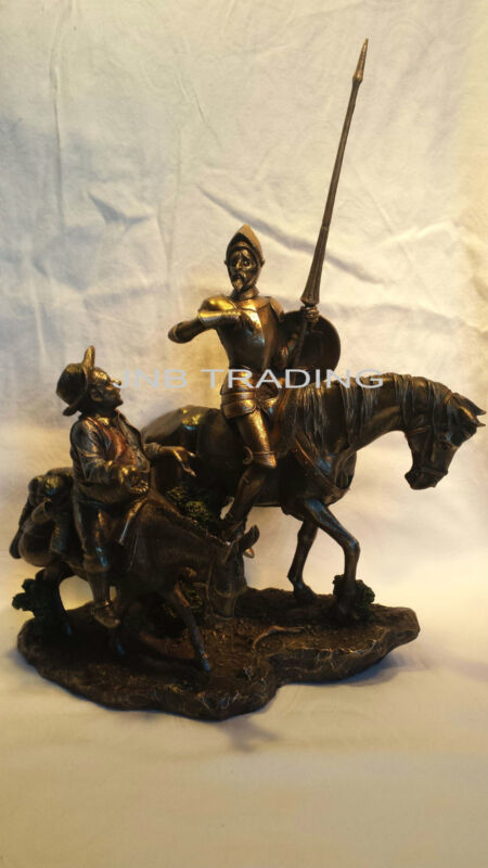 NEW DON QUIXOTE & SANCHO PANZA Statue Figures Sculpture Bronze FAST SHIPPIN