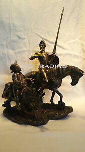NEW DON QUIXOTE & SANCHO PANZA Statue Figures Sculpture Bronze FAST SHIPPIN