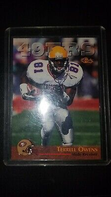 1996 Classic #94 TERRELL OWENS San Francisco 49ers (Chattanooga) HOF -ROOKIE-RC