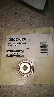 2602-020 78-16 Ford Oil Drain Plug Same As C5ne6730b 4000 5000 7000 Series