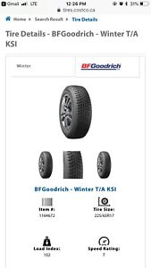 BF Goodrich Winter Tires - Only used 1 winter (2017-2018)