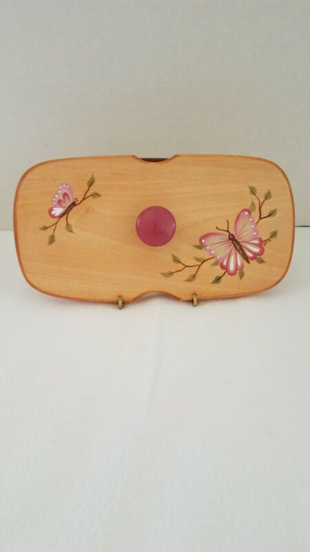 Hand Painted Wood Lid Basket Accessories Akron OH fits Longaberger Candle Basket