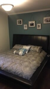 King size bed frame dresser/mirror