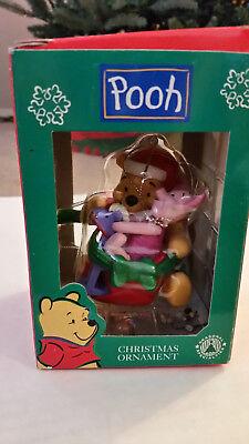 Disney's Winnie the Pooh Christmas Ornament POOH & PIGLET on Rocking Horse