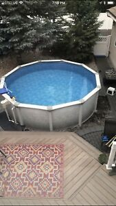 Vogue 15 foot out door swimming pool and Heater