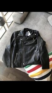 MENS ASOS Leather Jacket - Size Large