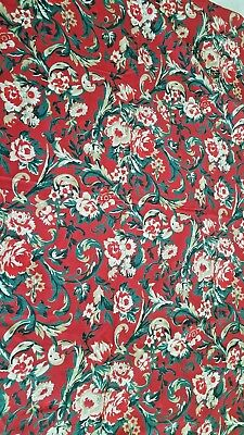 - Red deco floral print tablecloth 56