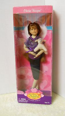 Only Hearts Club - Olivia Hope Doll in Box with Purple Top, Black Pants & DOG!!!