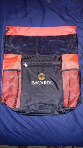 Bacardi Rum Liquor Black Bag EMPTY Bottle Holder Tote Purse Shoulder Handle Bag
