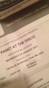 2x Panic! At The Disco tickets Alexander Heights Wanneroo Area Preview