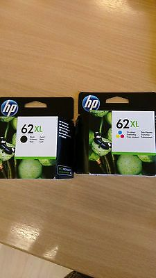 HP 62XL printer cartridges, black and Tri-colour