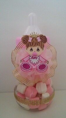 Princess Centerpiece Bottle Large Baby Shower It's a Girl Piggy Bank Table Decor for sale  San Bernardino