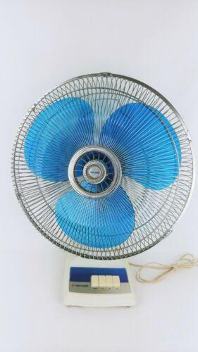 "Tatung LB-16 Fan 3-Speed Blue Blade Electric Oscillating 16"" Fan Made in Taiwan"