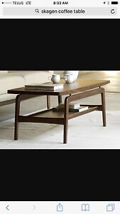 DWR Skagen coffee table walnut authentic mid century