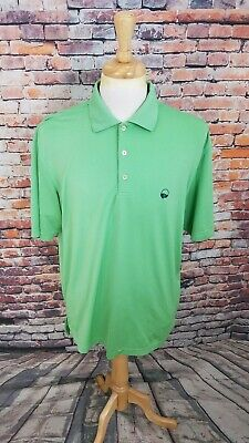 Peter Millar Summer Comfort Short Sleeve Lime Green Athletic Golf Polo Shirt M ()