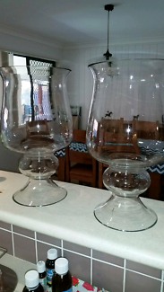 Pair of large glass vases