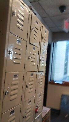 Steel Gym Lockers 6 Bay X 3 36 Wide X 78high